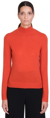 Theory Knitwear In Orange Cashmere