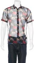 Raf Simons Floral Check Sheer Shirt