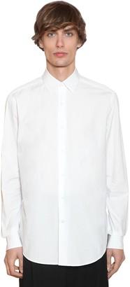 Loewe Embroidered Anagram Cotton Poplin Shirt