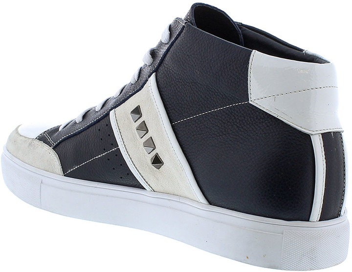 Thumbnail for your product : Badgley Mischka Men's Walton Studded Leather High-Top Sneakers