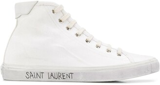 Saint Laurent Distressed Effect High-Top Sneakers