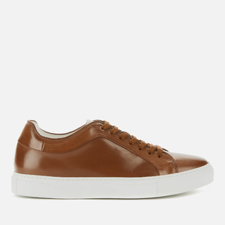 Paul Smith Men's Basso Burnished Leather Cupsole Trainers - Tan