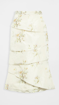Brock Collection Fantasy Chine Tiered Skirt