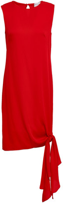 Milly Chiara Knotted Stretch-silk Mini Dress