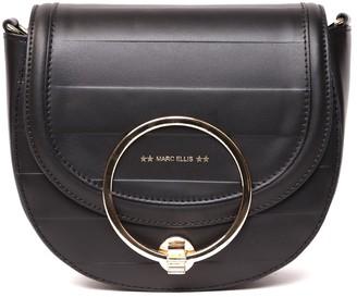 Marc Ellis Catherine Black Leather Shoulder Bag