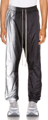 Rick Owens Track Pants in Black & Silver | FWRD