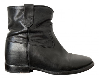 Isabel Marant Cluster Black Leather Ankle boots