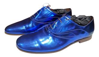 Louis Vuitton Blue Patent leather Lace ups