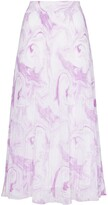 Thumbnail for your product : Ganni Swirl Pleated Midi Skirt