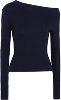 Jacquemus One-shoulder Ribbed Wool Sweater - Navy