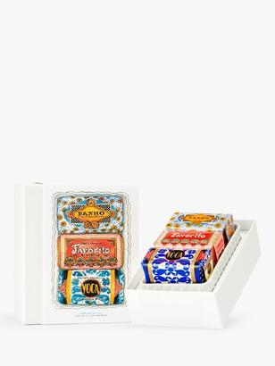 Claus Porto 3 Deco Mini Soaps & Soap Dish Bodycare Gift Set