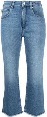 Love Moschino Mid Rise Kick Flare Cropped Jeans