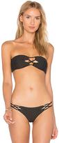 Acacia Swimwear Lumahai Top in Black. - size L (also in M,XS)