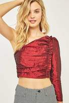 Sparkle & Fade One Shoulder Taffeta Top