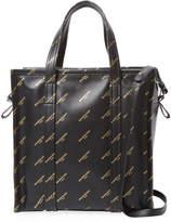 Balenciaga Women's Logo Bazaar Leather Tote Bag