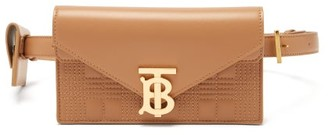 Burberry Envelope Quilted-leather Belt Bag - Womens - Tan