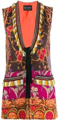 Etro floral print woven vest