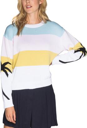Chrldr Pastel Palms Dropped-Shoulder Sweater