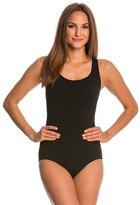 Penbrooke Krinkle Cross Back Chlorine Resistant One Piece Swimsuit 22928
