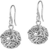 Dower & Hall Wild Rose Sphere Drop Earrings, Silver