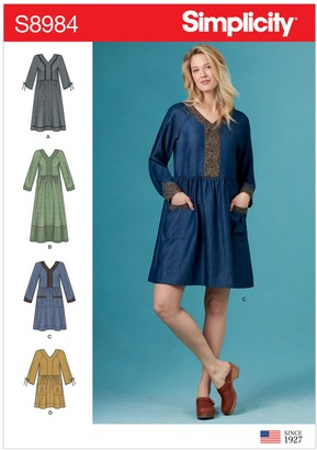 Simplicity Women's Panel Dress Sewing Pattern, 8984