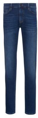 HUGO BOSS Slim-fit jeans in indigo super-stretch denim