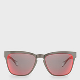 Paul Smith Black Chrome Mirrored 'Barson' Sunglasses