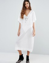Raga Sweet Serenity Oversized Throw On Midi Dress