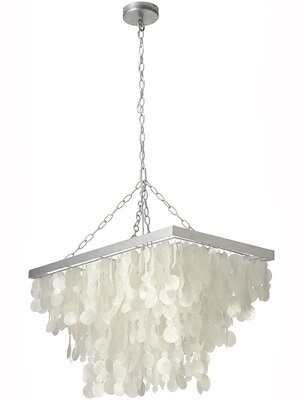 Bay Isle Home Maryellen 3 - Light Unique / Statement Geometric Chandelier with Seashell Accents