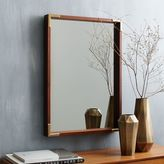 Malone Campaign Wall Mirror - Walnut