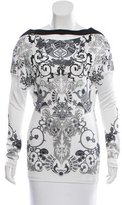Versace Cutout Printed Top