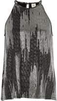 River Island Womens Silver metallic sleeveless trapeze top