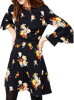 Warehouse Victoria Floral Babydoll Dress, Navy