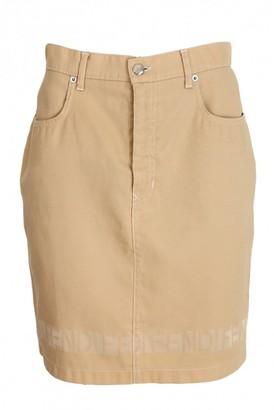 Fendi Beige Denim - Jeans Skirt for Women