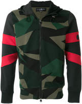 Hydrogen camouflage print hooded jacket