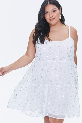 Forever 21 Plus Size Metallic Spotted Mini Dress