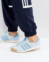 adidas Samoa Vintage Trainers In Blue By3160