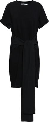 Alexander Wang Belted Cotton-blend Mini Dress