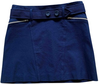 Tara Jarmon Blue Cotton - elasthane Skirt for Women