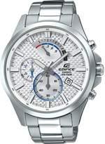 Casio Men's 'Edifice' Quartz Stainless Steel Casual Watch, Color:Silver-Toned (Model: EFV-530D-7AVCF)