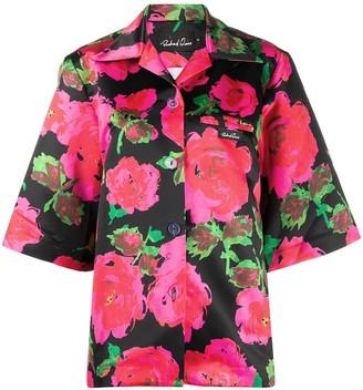 Richard Quinn Floral Printed Bowling Shirt