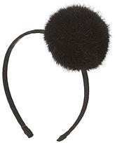 Copper Key Genuine Rabbit Fur Pom-Pom Headband