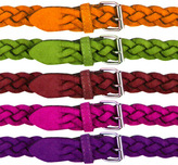 Faux Suede Braided Belts