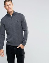 Polo Ralph Lauren Jumper With Half Zip In Grey