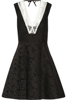 Sandro Rhythm Pleated Embroidered Mesh Mini Dress