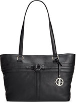 Giani Bernini Covered Ring Nappa Leather Tote, Only at Macy's