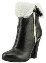 Aquatalia by Marvin K Dana Women Round Toe Suede Black Ankle Boot.