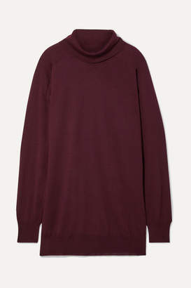 Maison Margiela Oversized Wool Turtleneck Sweater - Merlot