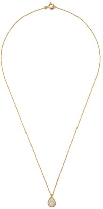 As 29 18kt yellow gold Mye pear beading pave diamond necklace