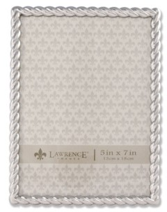 """Lawrence Frames 710057 Silver Metal Rope Picture Frame - 5"""" x 7"""""""